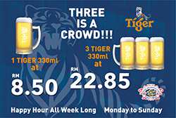 TIGER DRAUGHT PROMOTION
